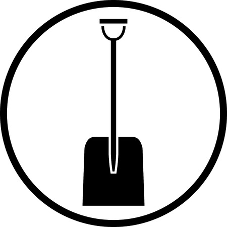 Vector snow shovel icon Ilustrace