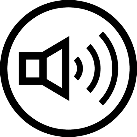 Speaker on - Vector icon isolated