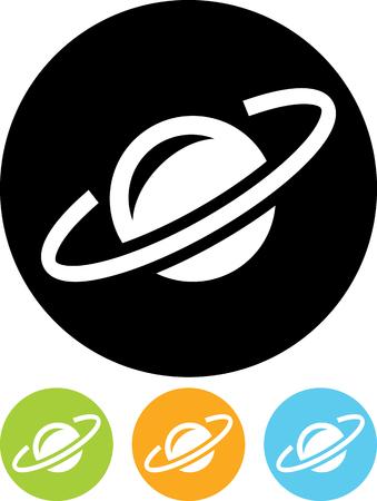 Earth satellite orbit - Vector icon isolated