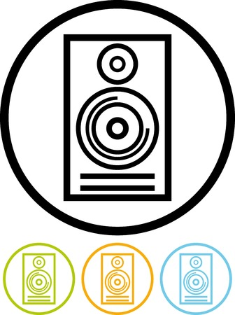 Vector icon isolated on white - Sound speaker