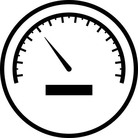 Speedometer vector icon  イラスト・ベクター素材