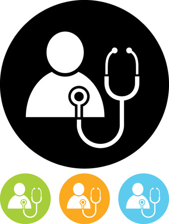 Patient heart test vector icon
