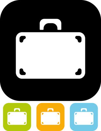Suitcase - Vector illustratie geïsoleerde Stock Illustratie