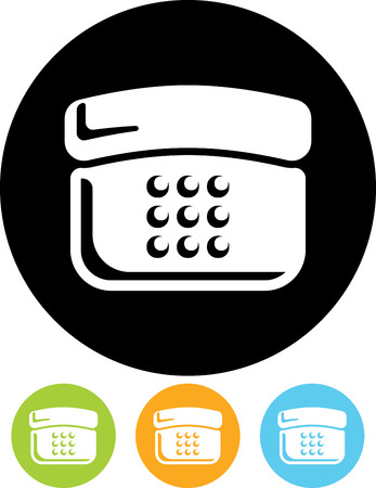 Telephone landline vector icon Illustration