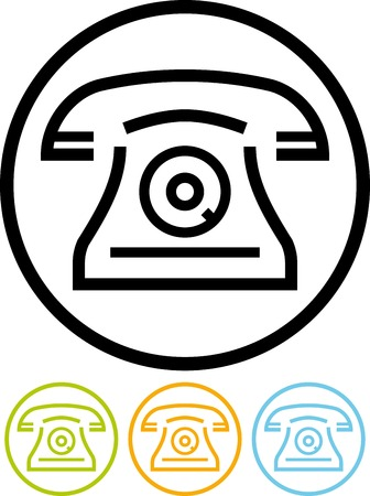 Vector icon isolated on white - Telephone