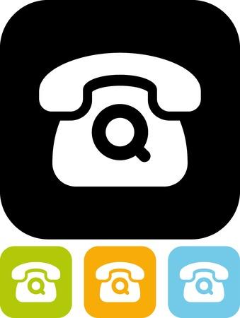 Retro telephone - Simple vector icon Illustration
