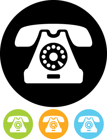 geïsoleerd Retro telefoon vector icon