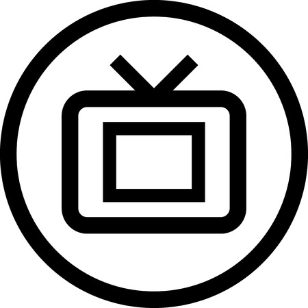 TV - Vector icon isolated