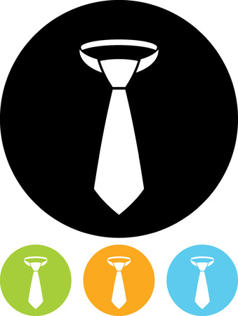 Necktie - Vector icon isolated