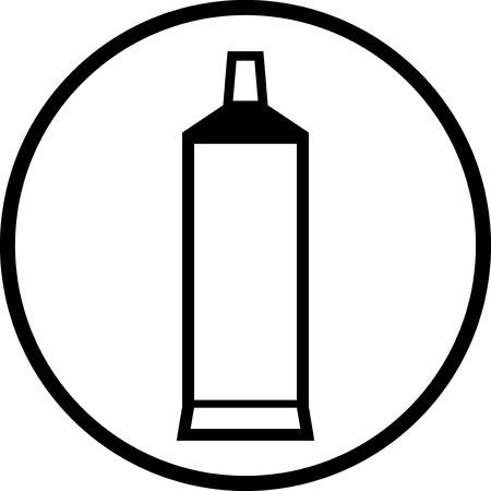 Tube tandpasta - Vector pictogram geïsoleerd