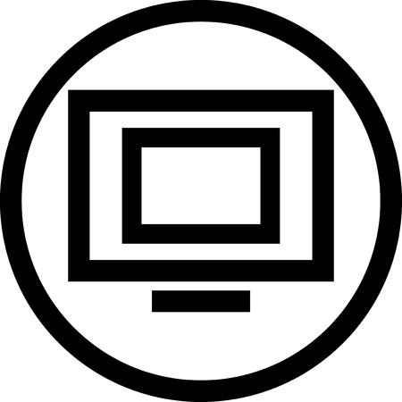 geïsoleerd Vector icon - Television