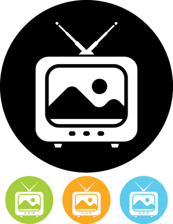 TV - Vector icons isolated