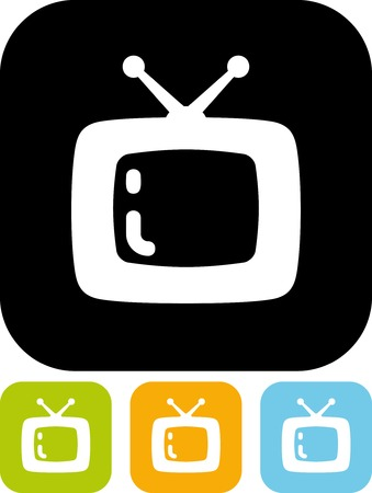 TV set - Vector icon isolated