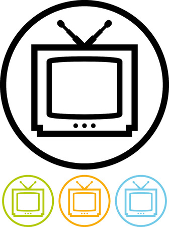 Television TV - Vector icon isolated