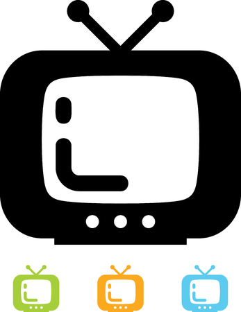 Television - Vector icon isolated Ilustrace