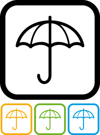 White umbrella - Vector icon isolated