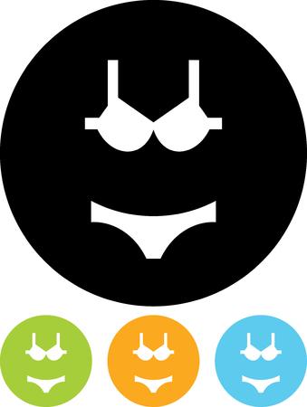 Bikini underwear set - Vector icon isolated