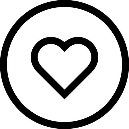 Valentine heart - Vector icon isolated