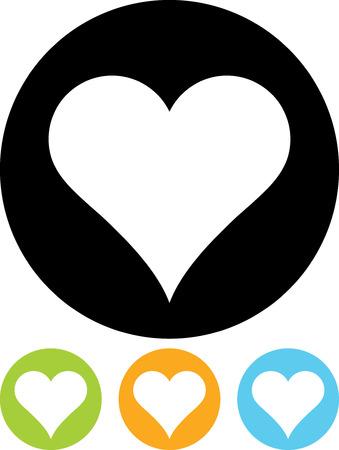 Valentine Heart Emblem - Vector icon isolated Illusztráció