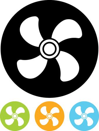 Ventilator air conditioner vector icon