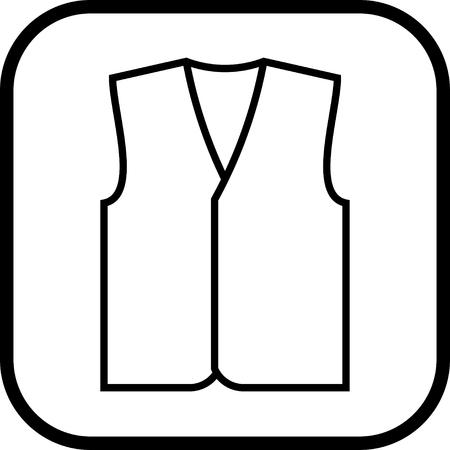 Chaleco del icono del vector