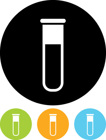 Vector icon isolated - Biochemistry and microbiology equipment. Test tube.
