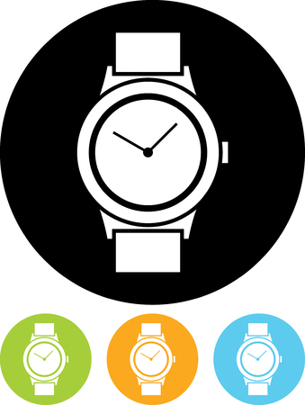 Wristwatch - Vector icon isolated Illustration