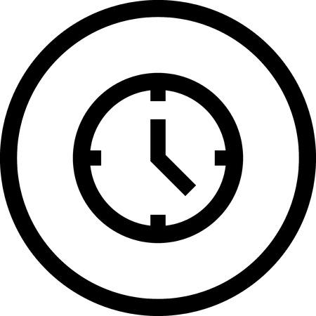 시계 얼굴 - 절연 벡터 아이콘