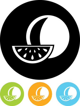 Watermelon - Vector icon isolated Illustration