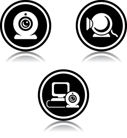 Webcams vector icons Vectores