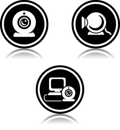 Webcams vector icons Çizim