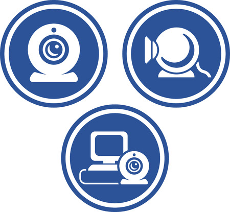 Webcams - Vector icon isolated Vectores