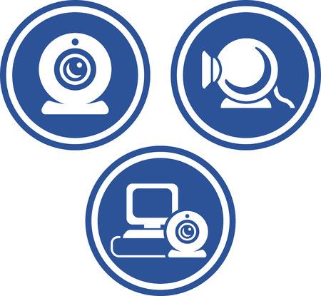 Webcams - Vector icon isolated Çizim