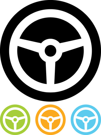 Steering Wheel - Vector icon isolated