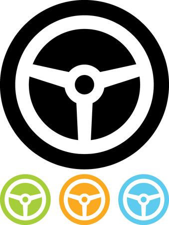 Volante - icono del vector aislado