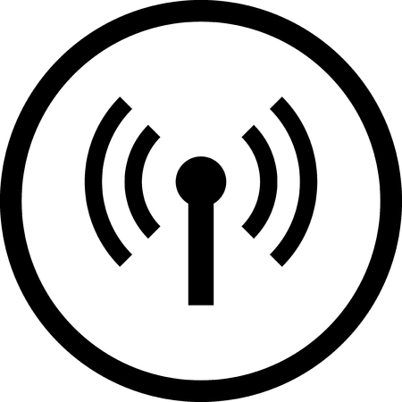 Wireless connection spot - Vector icon isolated Illustration