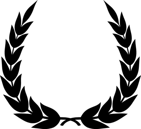 Vector laurel wreath isolated Reklamní fotografie - 52956300