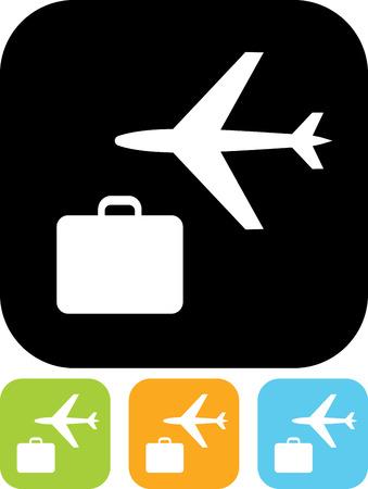 Air travel vector icon