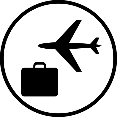 Air travel vector icon