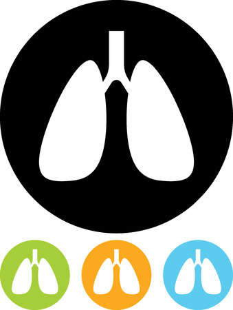Vector icon isolated - Human organs. Lungs