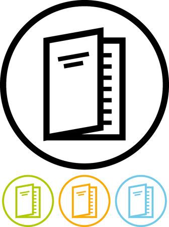 Papieren tijdschrift of een boek - Vector pictogram op wit wordt geïsoleerd