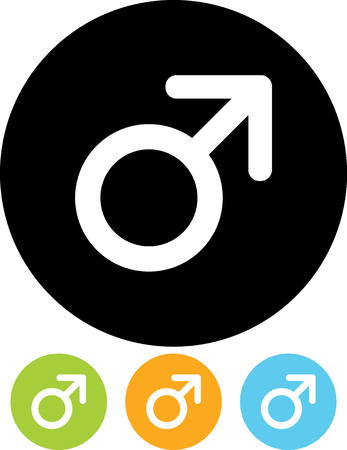 Male gender symbol vector icon Çizim