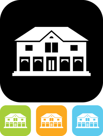 Mansion or mall building - Vector icon isolated