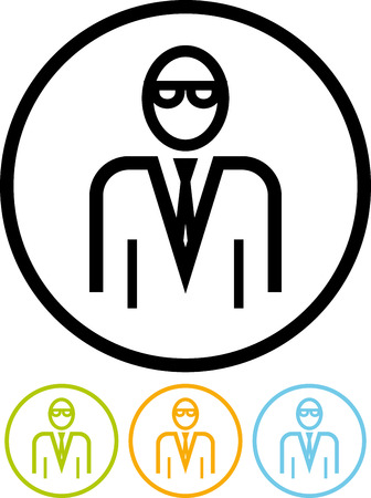 Office manager - Vector icon isolated on white