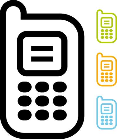 Vector icon - Mobile phone Illustration