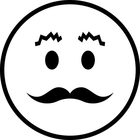 Face with mustache vector icon