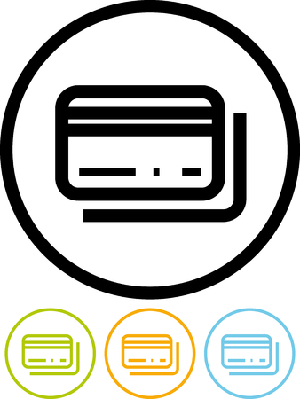 Bank plastic cards money transfer - Vector icon isolated