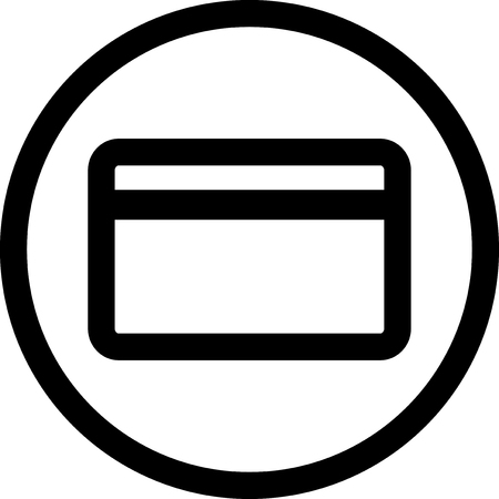 Bank card - Vector icon isolated