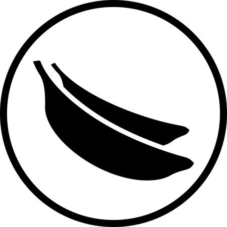 Bunch of bananas vector icon