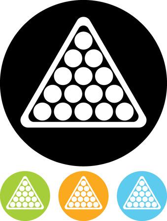 Billiard balls triangle - Vector icon isolated Illusztráció